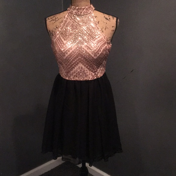 Speechless Dresses Juniors Homecoming Dress Black And Rose Gold
